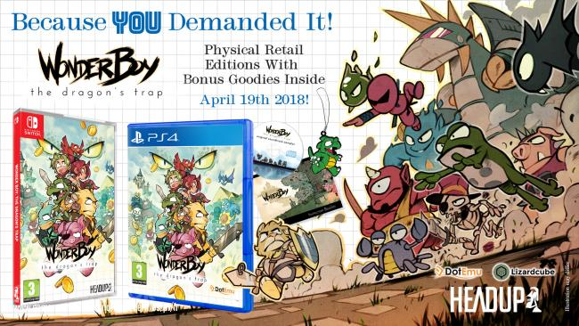 Wonder Boy: The Dragon's Trap special retail box available now
