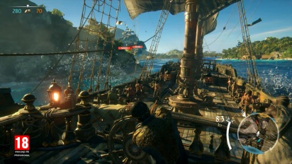 Skull and Bones - E3 2017 moninpelikuvaa