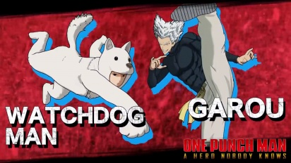 One Punch Man: A Hero Nobody Knows - Garou and Watchdog Man Character Traileri
