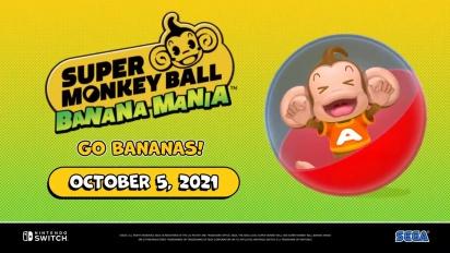 Super Monkey Ball Banana Mania - julkistustraileri