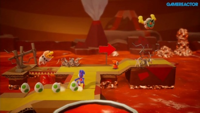 Yoshi's Crafted World - Poochy's Magma Run -pelikuvaa
