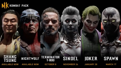 Mortal Kombat 11 - Kombat Pack Official Roster Reveal -traileri