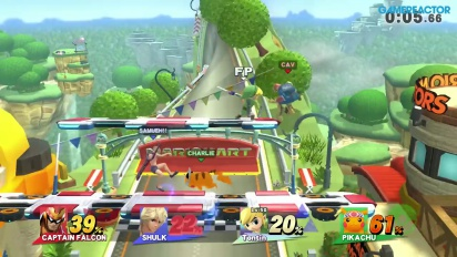 Super Smash Bros. for Wii U: Free For All vs Level 50 Amiibo -pelikuvaa