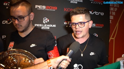 PES League World Finals 2019 - Co-Op-mestarit haastattelussa