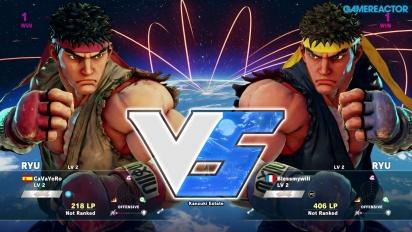 Street Fighter V -betapelikuvaa: Ryu vs. Ryu