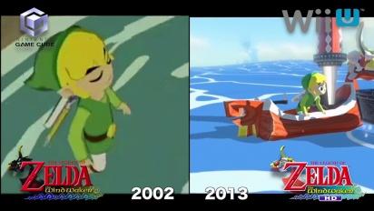 The Legend of Zelda: The Wind Waker HD - Gamecube vs. Wii U comparison 1