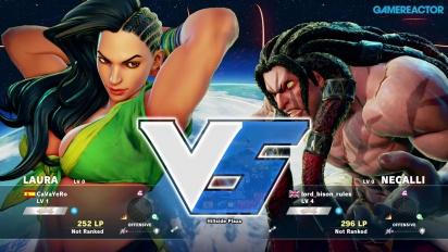 Street Fighter V -betapelikuvaa: Laura vs. Necalli
