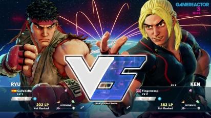 Street Fighter V -betapelikuvaa: Ryu vs. Ken