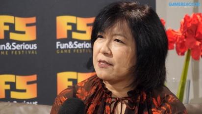 Yoko Shimomura - Fun & Serious 2019 haastattelussa