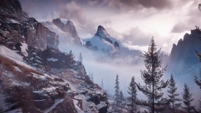 Horizon Zero Dawn: The Frozen Wilds - japanilainen maisematraileri