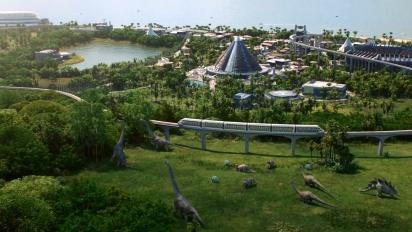 Jurassic World Evolution -julkistustraileri