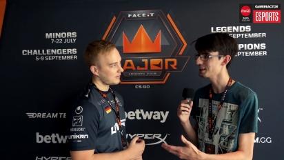 Faceit Major - Nex haastattelussa