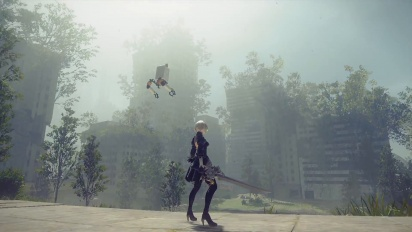 Nier: Automata - Final Fantaxy XV collaboration gameplay