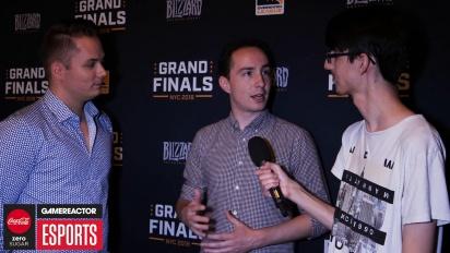 Overwatch League Finals - Sideshow ja Uber haastattelussa