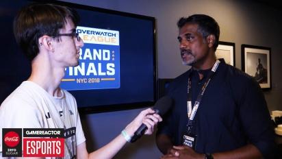 Overwatch League Finals - Chacko Sonny haastattelussa