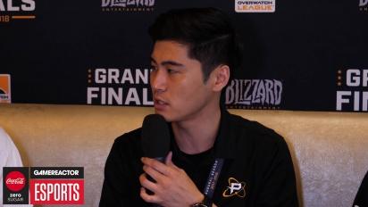 Overwatch League Finals - NamedHwi ja Sado haastattelussa