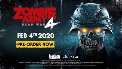 Zombie Army 4: Dead War - julkaisupäivän traileri