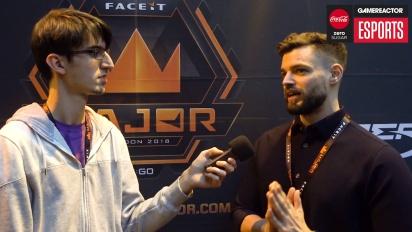 Faceit Major - ddk haastattelussa