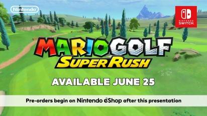 Mario Golf: Super Rush - julkistustraileri