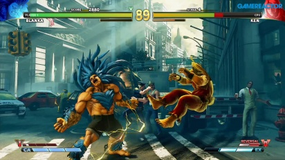 Street Fighter V: Arcade Edition - Blanka vs Ken SFII Path