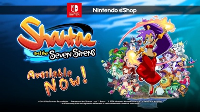 Shantae and the Seven Sirens - Nintendo Switch -julkaisutraileri