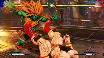 Street Fighter V: Arcade Edition - Blanka vs Zangief SFII Path