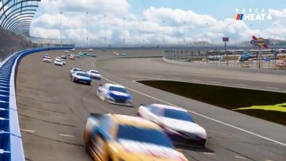 Ensivilkaisussa NASCAR Heat 4