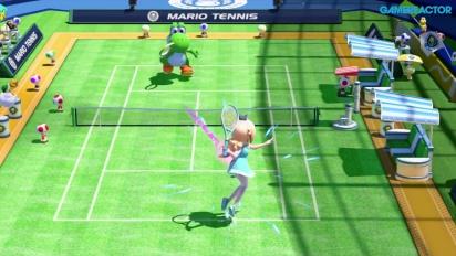 Mario Tennis: Ultra Smash - Mega Battle-pelikuvaa (Rosalina vs Yoshi)