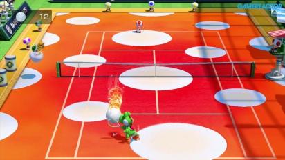 Mario Tennis: Ultra Smash - Mega Ball Rally -pelikuvaa (Yoshi vs Toad)
