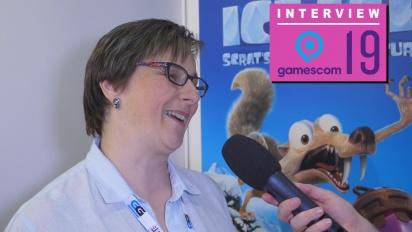 Ice Age: Scrat's Nutty Adventure - Natalie Griffith haastattelussa