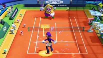 Mario Tennis: Ultra Smash - Knockout Challenge -pelikuvaa (Waluigi)