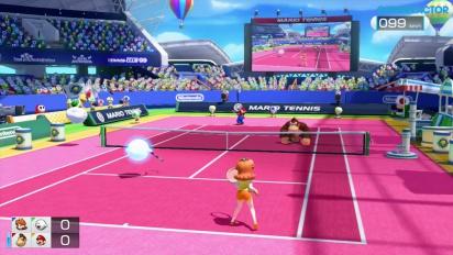 Mario Tennis Ultra Smash - Classic & Simple Doubles -pelikuvaa (Daisy & Boo vs DK & Mario)