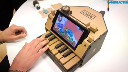 Nintendo Labo: Variety Kit - Piano Toy-Con Gameplay Demonstration