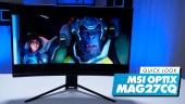 Nopea katsaus - MSI Optix MAG272CQR