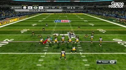 Madden NFL 12 -pelikuvaa: Steelers Vs Packers, osa 1/3