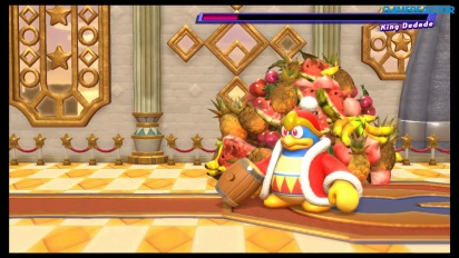 Kirby Star Allies - King Dedede Boss Battle -pelikuvaa