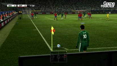 Pro Evolution Soccer 2012 - Brazil vs. Spain gameplay