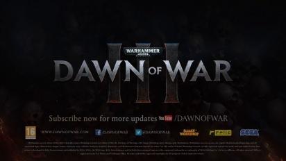 Warhammer 40,000: Dawn of War 3 - Prophecy of War -traileri
