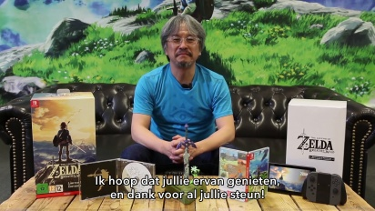 The Legend of Zelda: Breath of the Wild Limited Edition - laatikon avaa Eiji Aonuma