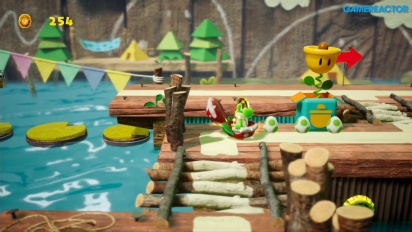 Yoshi's Crafted World - Ride the River -pelikuvaa