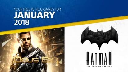 Tammikuun 2018 PS Plus -pelit