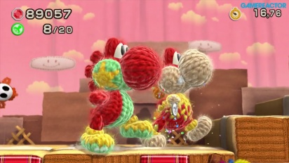 Yoshi's Woolly World -pelikuvaa: World 1 Co-op
