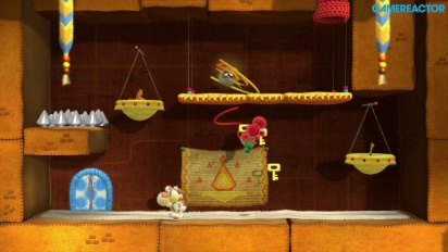 Yoshi's Woolly World -pelikuvaa: World 2 Co-op