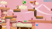 Yoshi's Woolly World - World 3 Co-op Gameplay (3-1, 3-2)