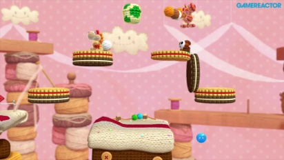 Yoshi's Woolly World -pelikuvaa: World 3 Co-op