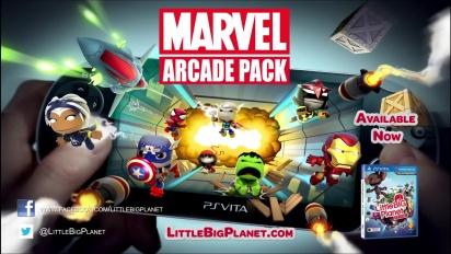 Little Big Planet Vita - Marvel Arcade Pack Trailer
