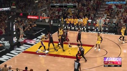NBA 2K21 - Jogabilidade LA Lakers VS Miami Heat
