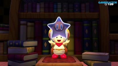 Captain Toad: Treasure Tracker -pelikuvaa:  Mission 1-7 Spinwheel Library