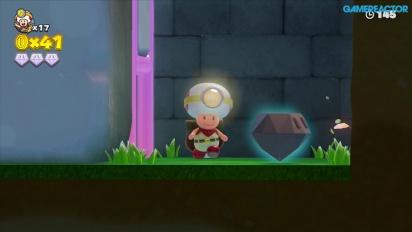 Captain Toad: Treasure Tracker -pelikuvaa: Mission 1-4 Mushroom Mesa