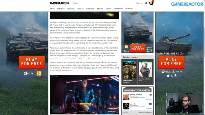GRTV News - CD Projekt Red Crunches on Cyberpunk 2077